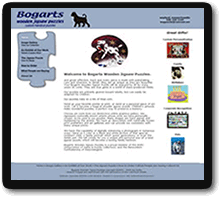 Custom Website for Bogarts Wooden Jigsaw Puzzles
