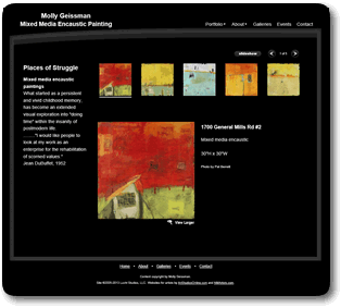 Examples of artist websites designed by nm artists for our for Art sites for artists